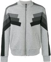 Neil Barrett block panel zip bomber - men - Cotton/Polyurethane/Spandex/Elastane/Viscose - M