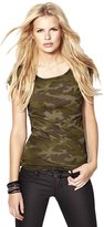Merry Mou Store Women's Classic Camouflage Military Wind High Elastic Leica Tank Top Short