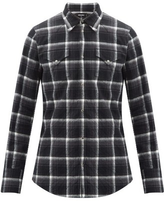DSQUARED2 Checked Cotton-flannel Shirt - Black