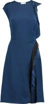 3.1 Phillip Lim Ruffled lace-trimmed silk dress