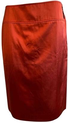 Loewe Orange Cotton Skirt for Women Vintage