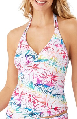 Tommy Bahama Rainbow Reversible Halter Tankini Top