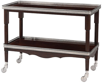 Ralph Lauren Home One Fifth Drinks Trolley - Estate Mahogany/Silver