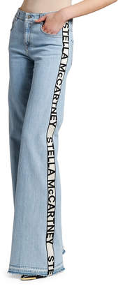 Stella McCartney Mid-Rise Side-Taped Jeans