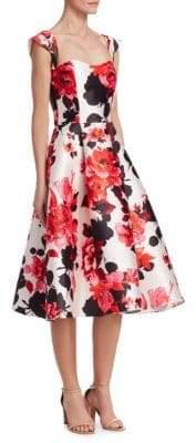David Meister A-line Floral Dress