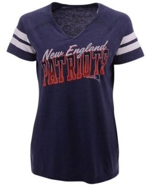 Majestic Women's New England Patriots Slanted Pride T-Shirt