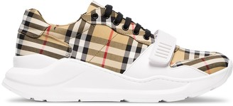 Burberry Vintage Check Cotton-Canvas Sneakers