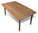 Weon Teak Dining Table Rosecliff Heights