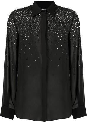 Liu Jo Embellished Button-Up Shirt