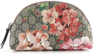 Gucci Cosmetic Pouch Blooms Print GG Coated Canvas Medium