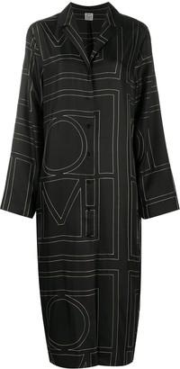 Totême Logo Print Dress