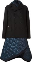 Diesel Black Gold quilted deconstructred peacoat
