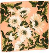 Christian Dior Floral Printed Silk Scarf