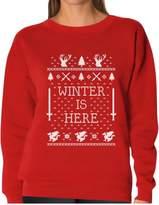 TeeStars - Winter Is Here Ugly Christmas Sweater Women Sweatshirt