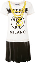 Moschino chain print T-shirt - women - Viscose/other fibers - 40