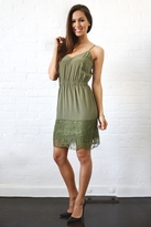Twelfth St. By Cynthia Vincent by Cynthia Vincent Lace Hem Slip Dress in Army