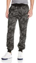 Southpole Men's Jogger Pants In French Terry with All Over Plantation Patterns