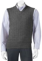 Dockers Big & Tall Classic-Fit Cable-Knit Sweater Vest