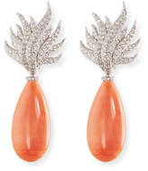 Assael Angel Skin Coral/Diamond Earrings