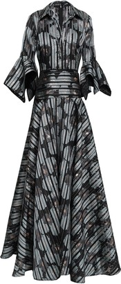 Badgley Mischka Jacquard Gown