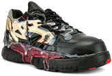 Maison Margiela Fusion Low Top in Black & Gold & Red   FWRD
