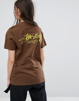 Stussy Oversized T-Shirt With Designs Print