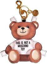 Moschino Leather key ring