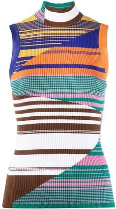 Missoni Sleeveless Stripe-Pattern Knit Top