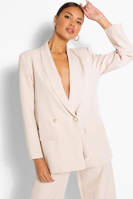 boohoo Tailored Relaxed Pearl Button Blazer