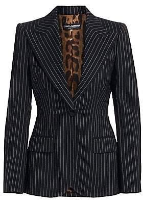 Dolce & Gabbana Women's Pinstripe Wool Jacket