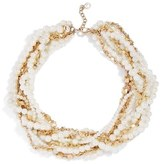 BaubleBar Maxine Faux Pearl & Chain Collar Necklace