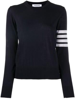 Thom Browne Striped-Sleeve Merino-Wool Knit Jumper