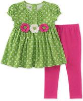 Kids Headquarters 2-Pc. Floral-Print Tunic and Leggings Set, Little Girls (4-6X)