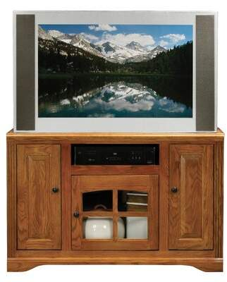 Loon Peak Glastonbury Solid Wood TV Stand for TVs up to 50 inches Loon Peak Color: Concord Cherry