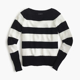 J.Crew Wool boatneck sweater in stripe