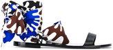Emilio Pucci textile wrap sandals - women - Leather/Cotton - 36