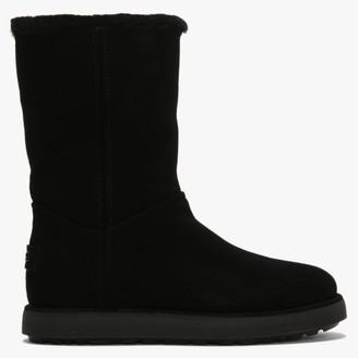 UGG Classic Short BLVD Black Suede Twinface Boots