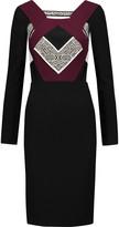 Roland Mouret Shapur color-block textured-crepe dress