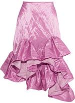 Marques Almeida Marques' Almeida - Ruffled Crinkled-taffeta Skirt - Pink