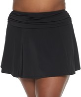 Plus Size A Shore Fit! Solid Disco Skirtini with Attached Panty