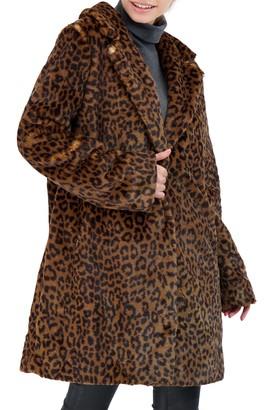 Sebby Collection Faux Fur Coat
