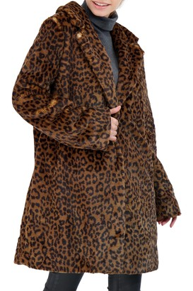 Sebby Collection Reversible Faux Fur Coat