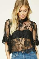 Forever 21 FOREVER 21+ Contemporary Eyelash Lace Top