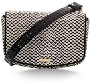 Brahmin Lil Black Tala Embossed Leather Belt Bag