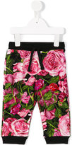 Dolce & Gabbana rose print trousers