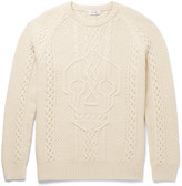 Alexander Mcqueen - Cable-knit Wool And Cashmere-blend Sweater