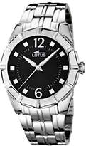 Lotus Women's Quartz Watch with Black Dial Analogue Display and Silver Stainless Steel Bracelet 15987/2