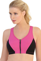 Glamorise Women's High Impact MagicLift Zipper Sports Bra - Plus
