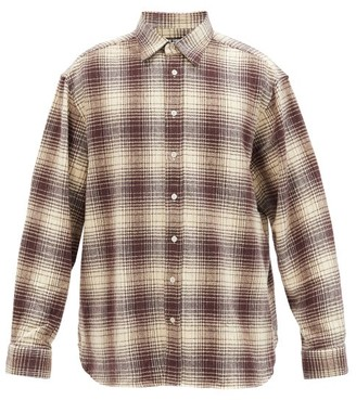 Raf Simons The Others Plaid Cotton-flannel Shirt - Brown