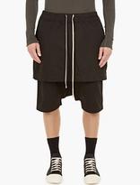 Rick Owens Drkshdw Black Kilt Boxer Pod Shorts